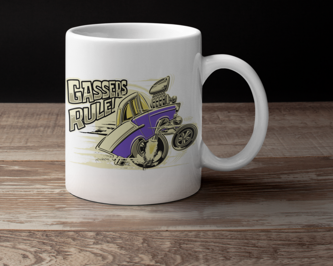 Tri-Five Tooned Up Gasser...purple