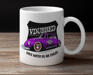 VDUBBED...SAVE WATER GO AIR COOLED CUP...purple