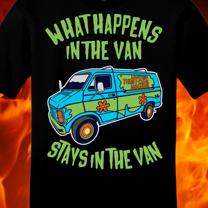 WHAT HAPPENS IN THE VAN...