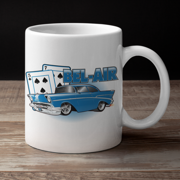 '57 Winning Hand Coffee Cup (blue)