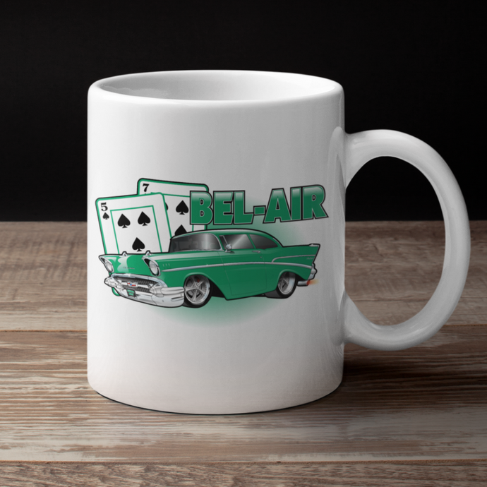 '57 Winning Hand Coffee Cup (green)
