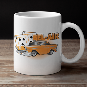 '57 Winning Hand Coffee Cup (orange)