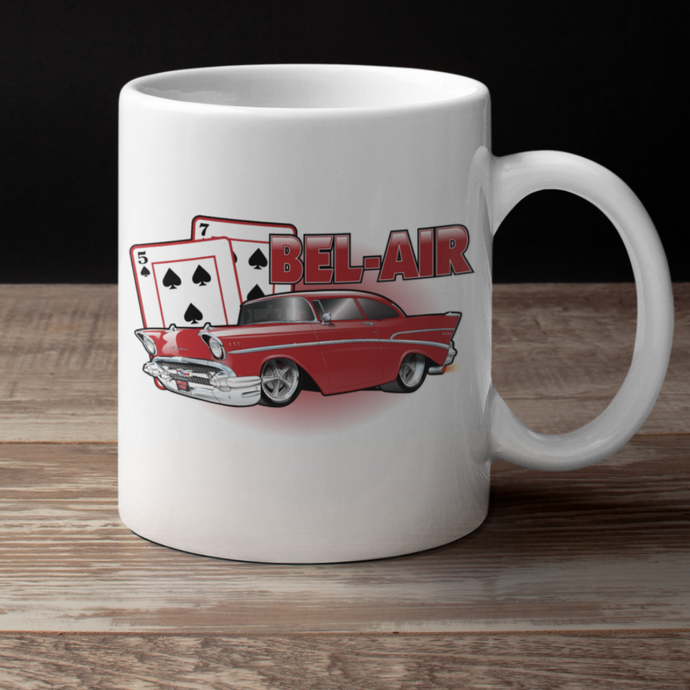 '57 Winning Hand Coffee Cup (red)