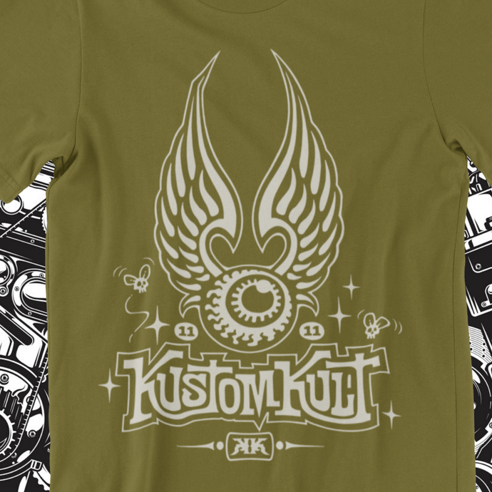 KUSTOM KULT FLYING EYEBALL (MILITARY GREEN)