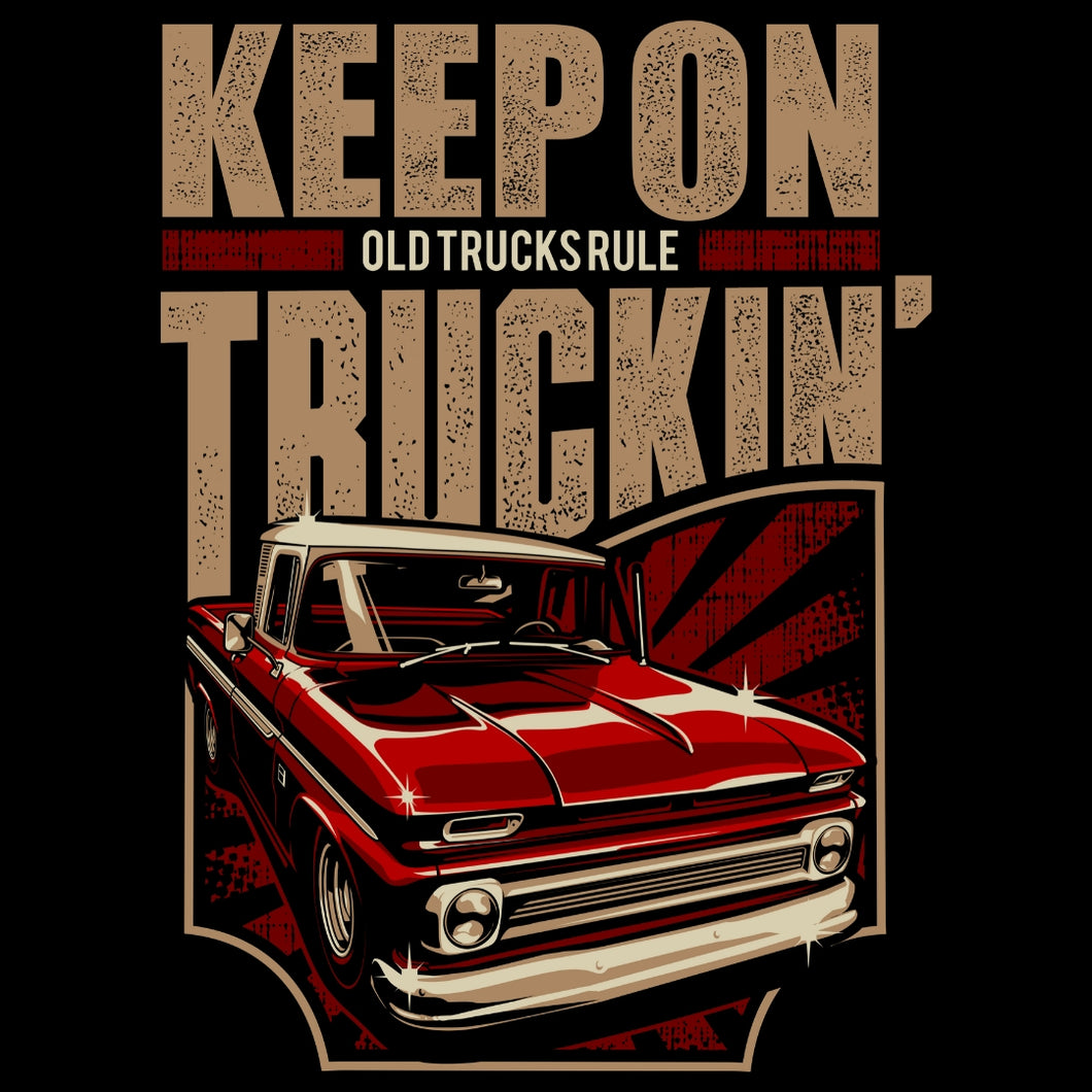 OLD TRUCKS RULE...KEEP ON TRUCKIN' RED