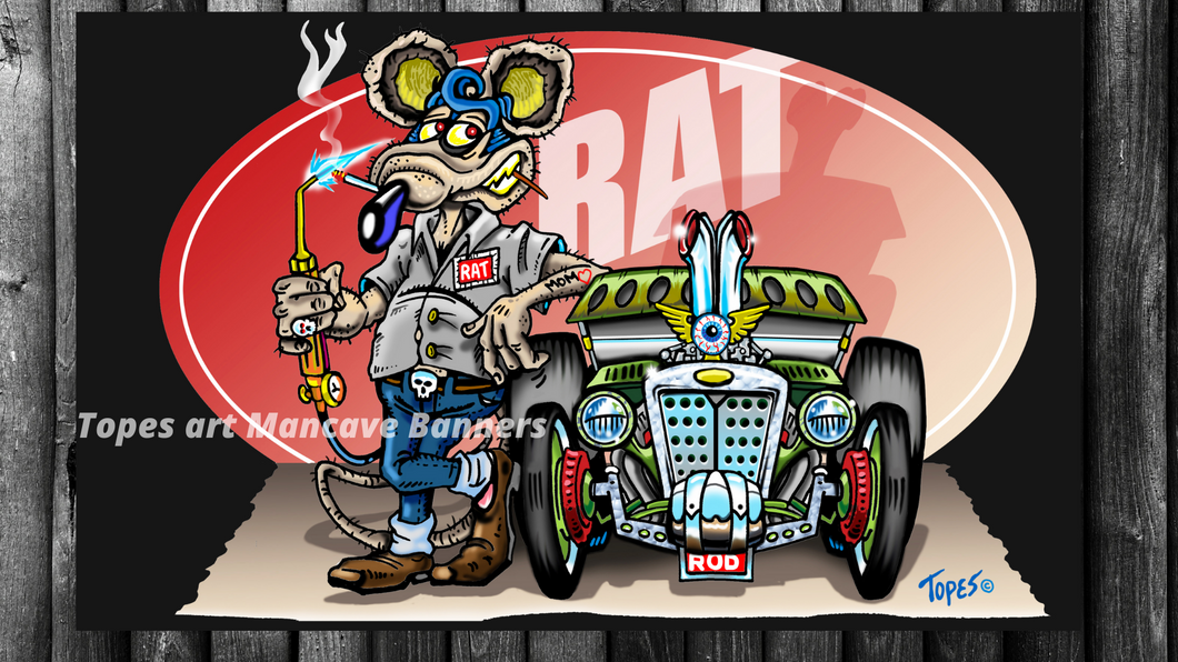 MANCAVE BANNER...RAT ROD MECHANIC
