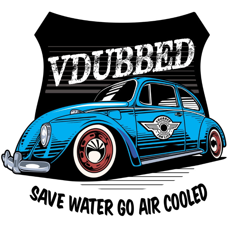 SAVE WATER GO AIR COOLED...blue