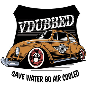 SAVE WATER GO AIR COOLED...orange