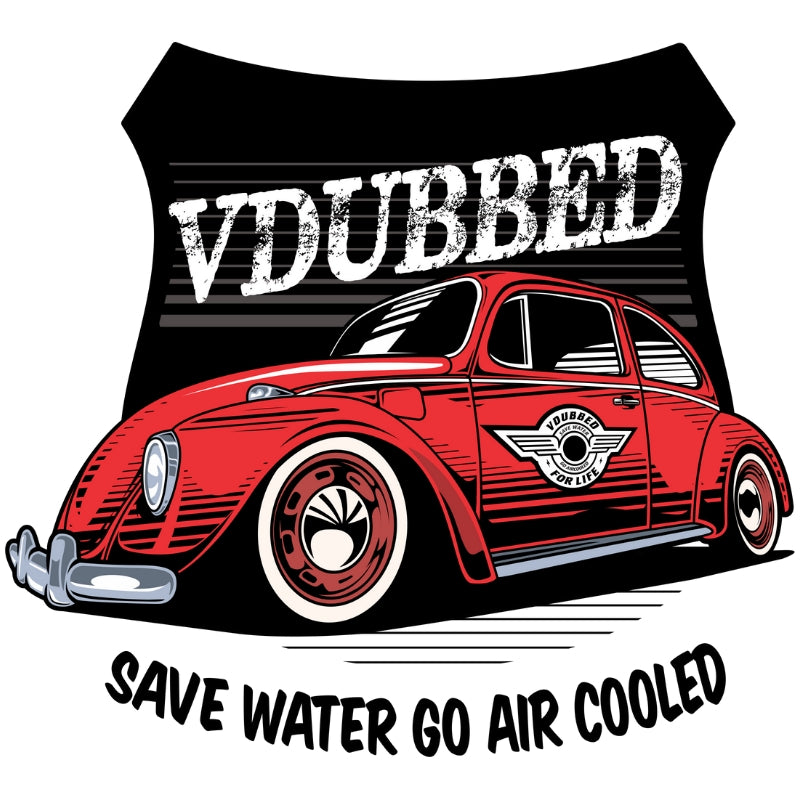 SAVE WATER GO AIR COOLED...red
