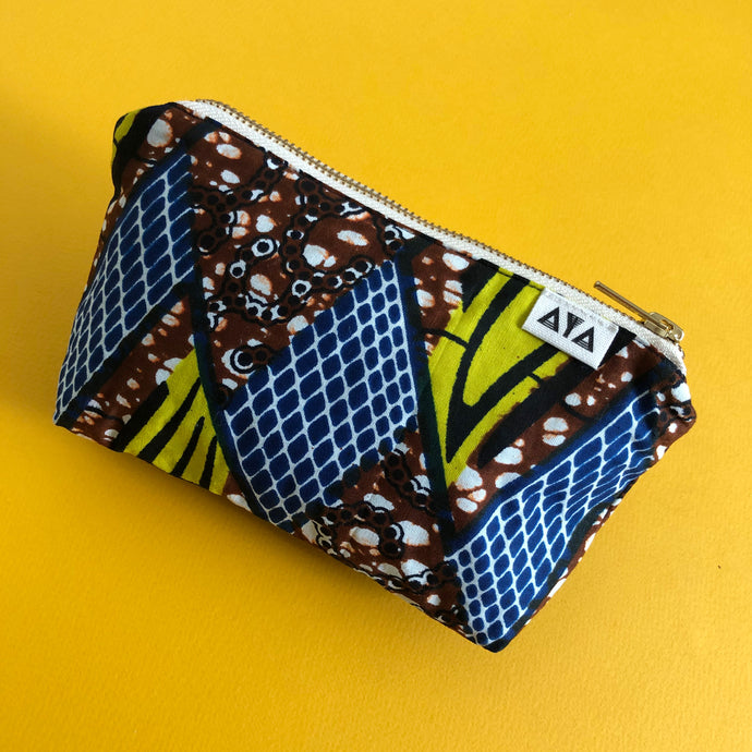 AFRICAN POUCH [Blue Brown]