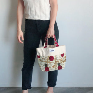 SMALL TOTE BAG [Red Pineapple]
