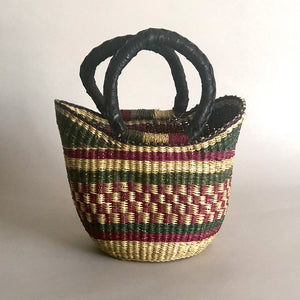 AFRICAN MINI BASKET [Matcha Plum]