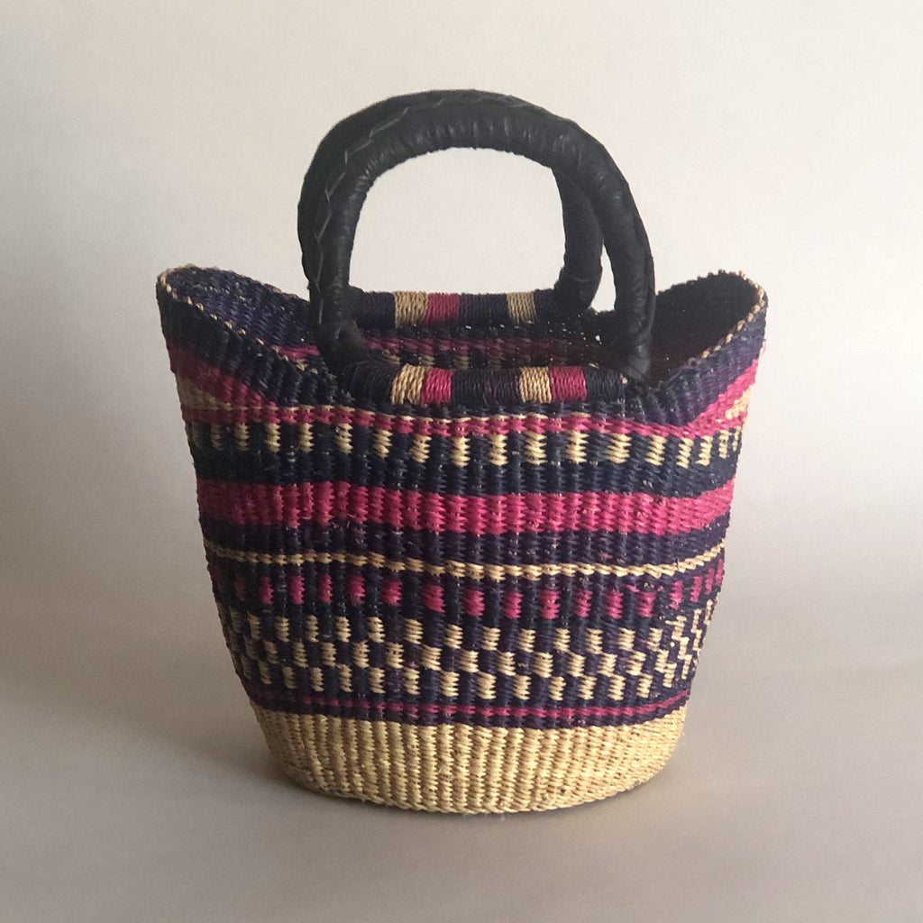 AFRICAN MINI BASKET [Pink Navy]