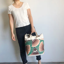Load image into Gallery viewer, 2WAY TOTE BAG [Pink-Green]