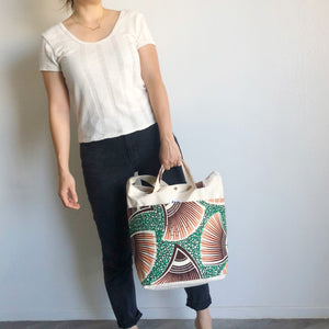 2WAY TOTE BAG [Pink-Green]