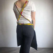 Load image into Gallery viewer, UTILITY APRON  [Yellow Bird x Olive]
