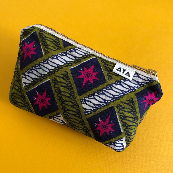 AFRICAN POUCH [Khaki Pink]