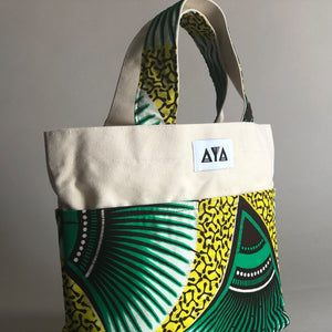 SMALL TOTE BAG [Green-Yellow]