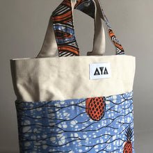 Load image into Gallery viewer, SMALL TOTE BAG [Orange Pineapple]