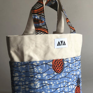 SMALL TOTE BAG [Orange Pineapple]