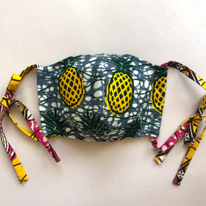 [2pc SET] 2WAY REUSABLE FACE MASKS  [Pineapple pack]