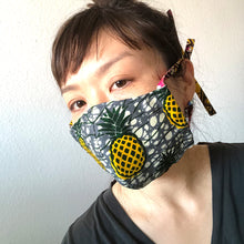Load image into Gallery viewer, [2pc SET] 2WAY REUSABLE FACE MASKS  [Pineapple pack]