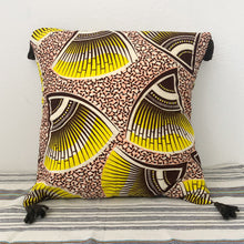 Load image into Gallery viewer, TASSEL CUSHION COVER  [Lemon Yellow]