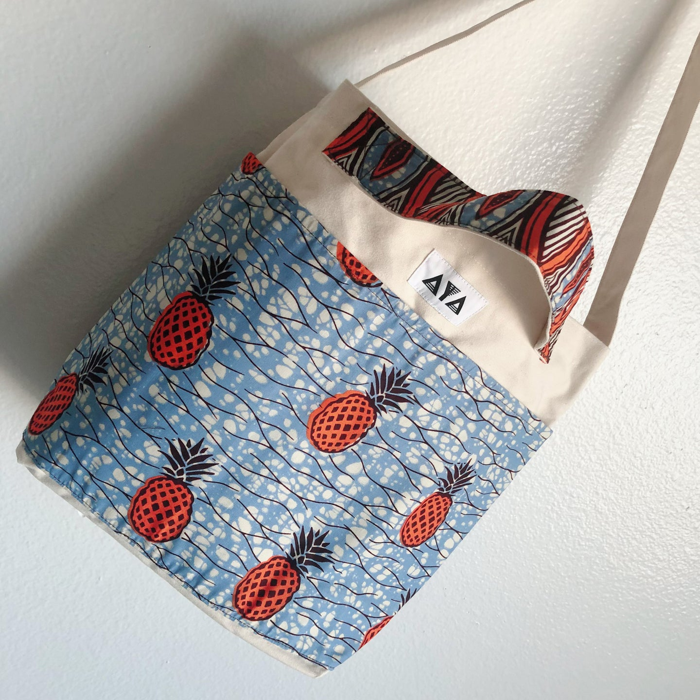 2WAY TOTE BAG [Orange Pineapple]