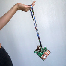Load image into Gallery viewer, MASK POUCH + KEYCHAIN  [Tassel Green]