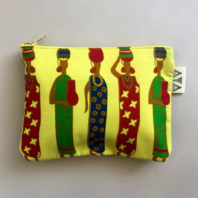 COMPACT AFRICAN CLUTCH [Lemon Yellow]