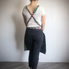 Load image into Gallery viewer, HAPPY APRON  [Pink Green x Olive]
