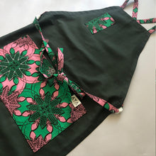 Load image into Gallery viewer, HAPPY APRON  [Vintage Pink x Olive]