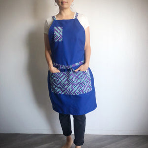 UTILITY APRON  [Blue Purple x Blue]