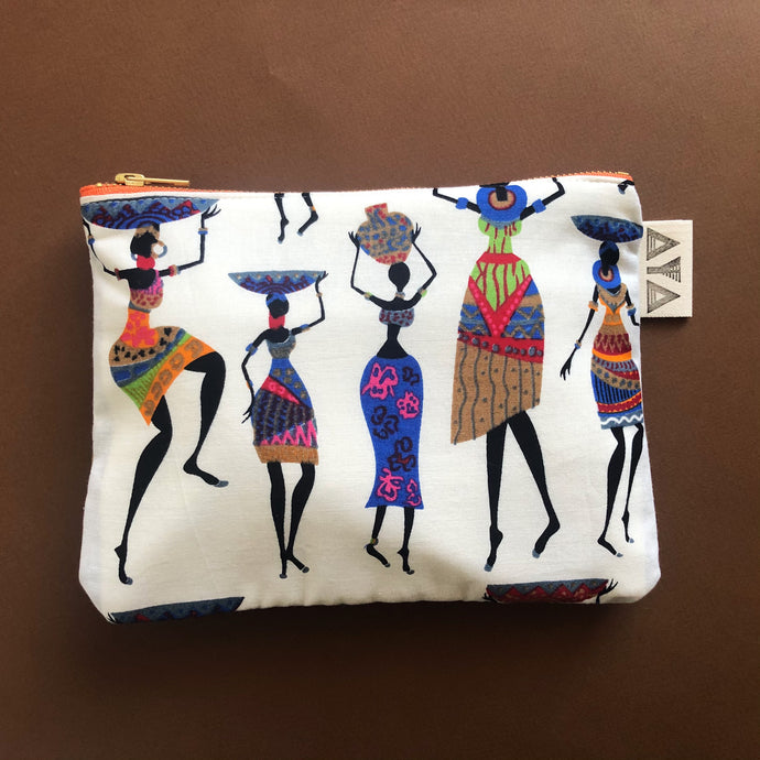 COMPACT AFRICAN CLUTCH [White]