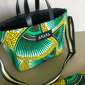 2WAY SQUARE BAG W/ SCARF [Green Yellow]