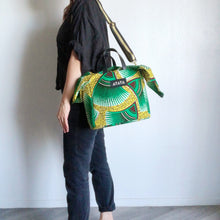 Load image into Gallery viewer, 2WAY SQUARE BAG W/ SCARF [Green Yellow]
