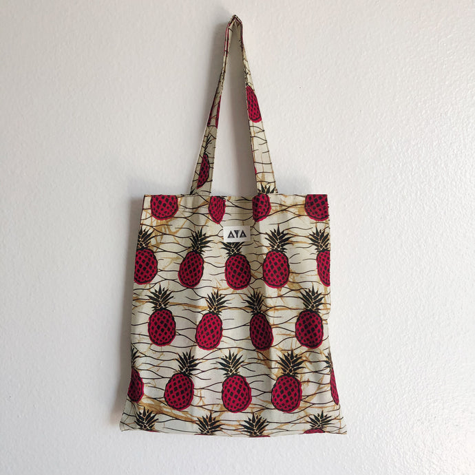ECO TOTE [Red-Pineapple]