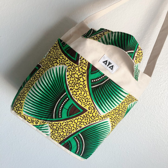 2WAY TOTE BAG [Green Yellow]