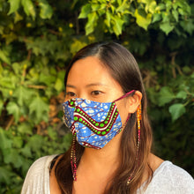 Load image into Gallery viewer, 2WAY REUSABLE FACE MASK  [Blue wave]