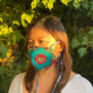 FACE MASK - 2WAY TIE Type   [10 Colors]