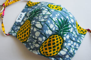 2WAY REUSABLE FACE MASK  [Yellow Pineapple]