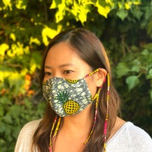 Load image into Gallery viewer, 2WAY REUSABLE FACE MASK  [Yellow Pineapple]