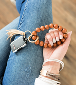 Load image into Gallery viewer, Wood Key Ring Bracelet
