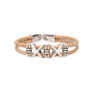 "Bracelet en liège naturel ""Cross"""