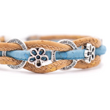 "Bracelet artisanal liège ""My little flower"""