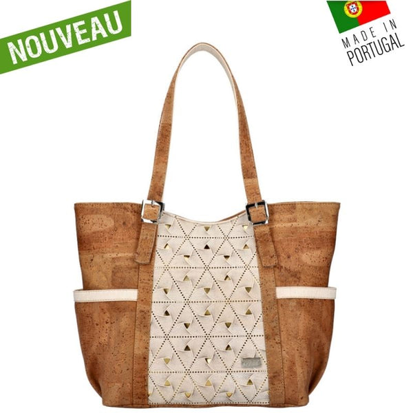 sac liège - sac liege - sac en liège - sac en liege - sac vegan femme - sac léger femme - sac cuir végétal - sac camel - sac a main liege - sac made in France - sac made in Portugal