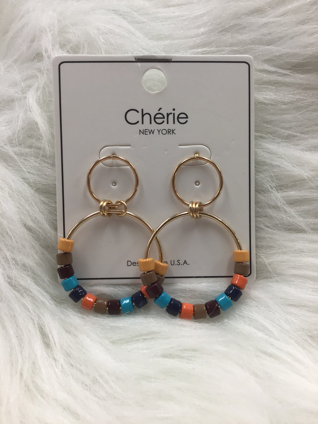 Multi-Bead Circle Earrings