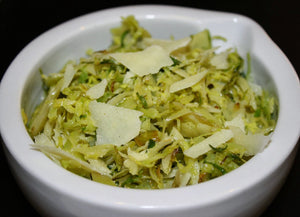 Shaved Brussels Sprouts with Parmesan Cheese