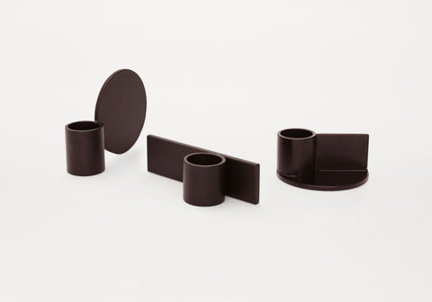 Fundament candleholders - black