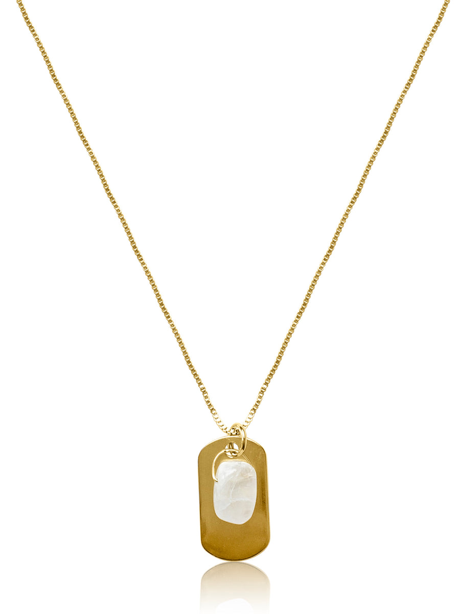 MOONSTONE I.D. NECKLACE